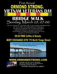 VIETNAM VETERANS DAY walk