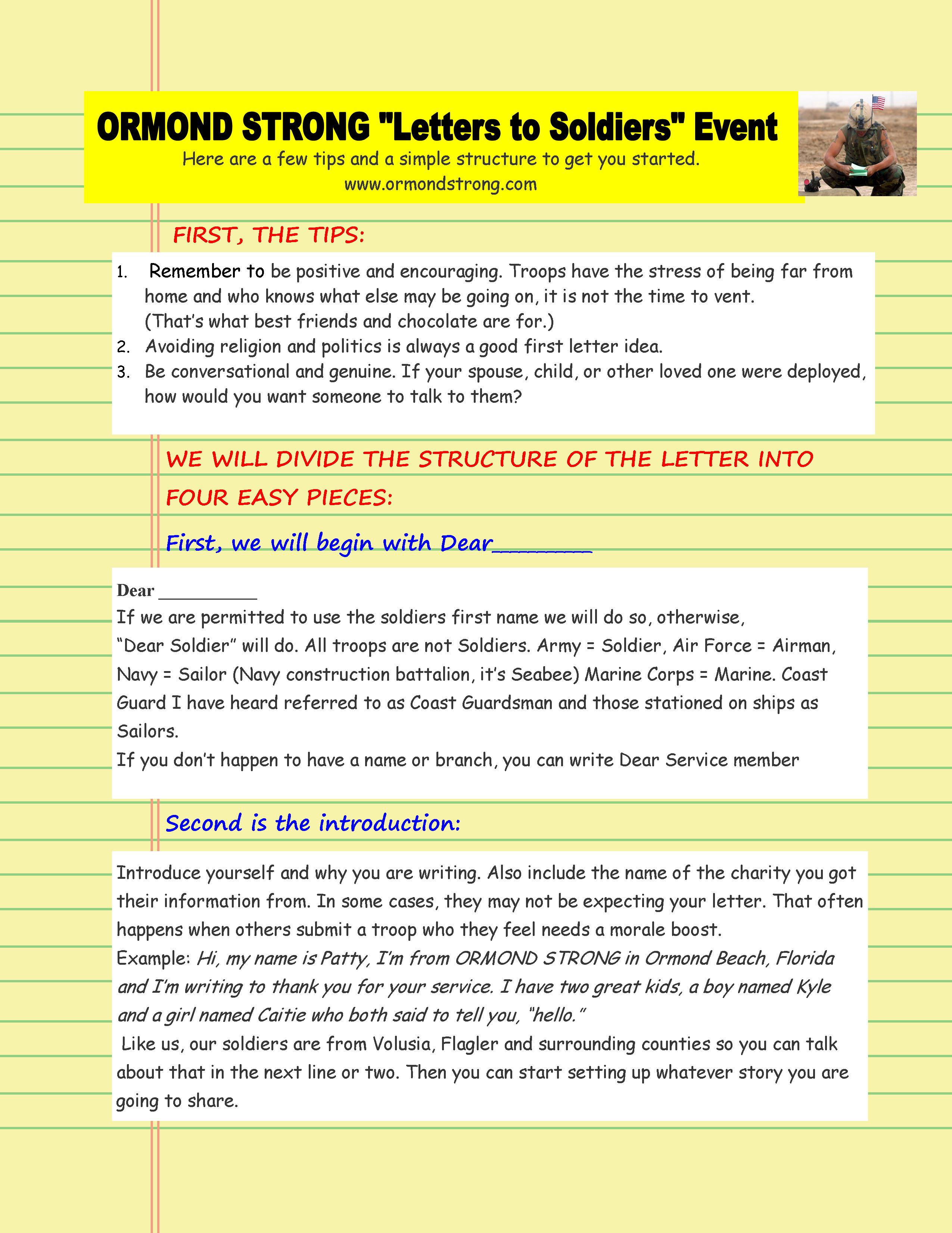 How to write a letter to a deployed sol r page 1 –